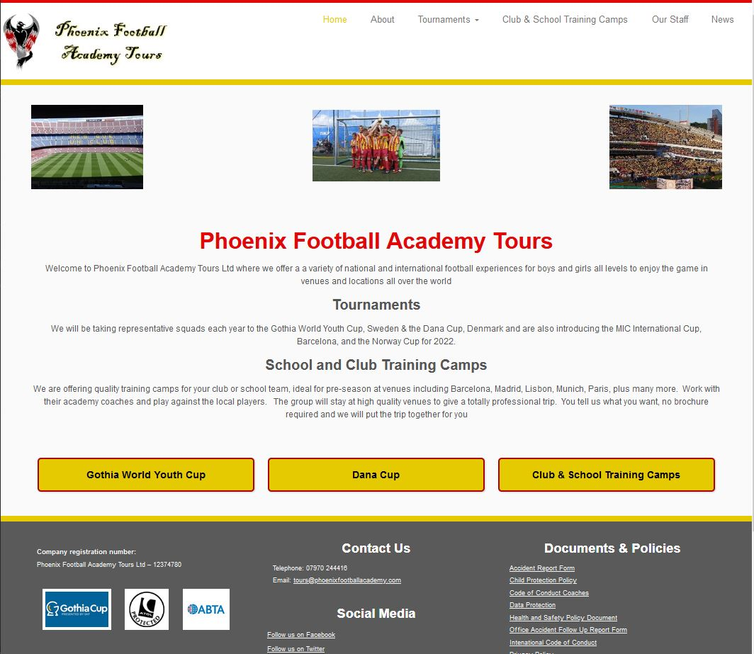 Phoenix Football Academy Tours